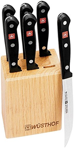 Wusthof Gourmet 7-Piece Steak-Knife Set with Oak ()