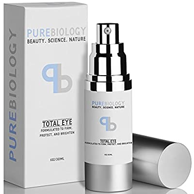 "Pure Biology ""Total Eye"" Anti Aging Eye Cream Infused with Instant Lift Technology & Baobab Fruit Extract - Immediate & Lasting Reduction in Fine Lines, Puffiness & Dark Circles"