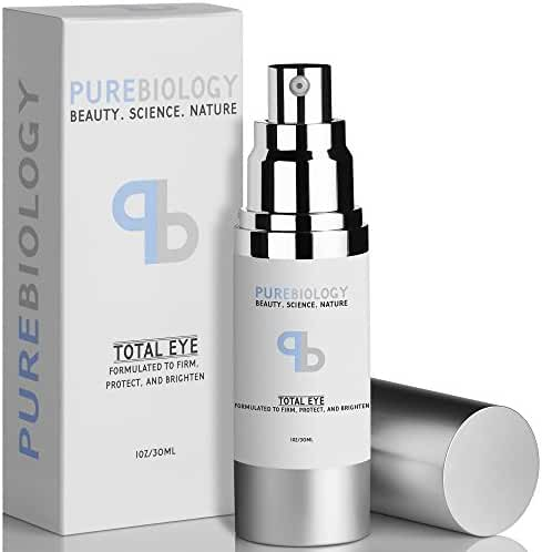 "Pure Biology ""Total Eye"" Anti Aging Eye Cream Infused with Instant Lift Technology & Baobab Fruit Extract - Instant Firming & Long Term Reduction in Wrinkles, Bags & Dark Circles"