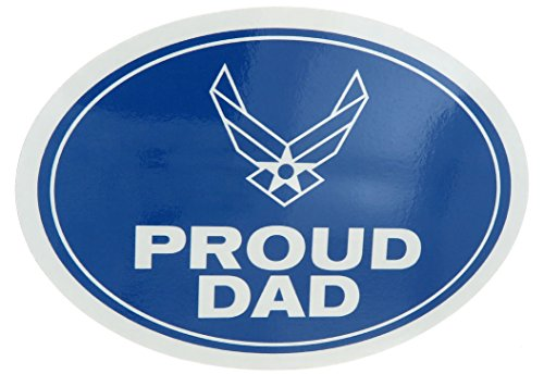 U.S. Air Force USAF Proud Dad USA Military Oval Car Refrigerator Magnet