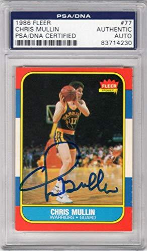 - Chris Mullin Golden State Warriors 1986 Fleer #77 Signed AUTOGRAPH - PSA/DNA Certified - Basketball Autographed Cards