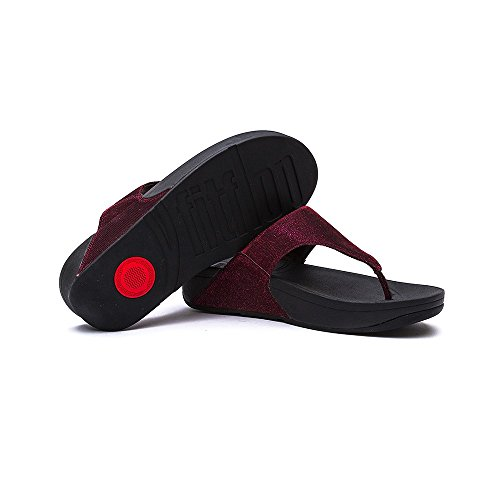 FitFlop Womens Super Electra Synthetic Sandals Hot Cherry