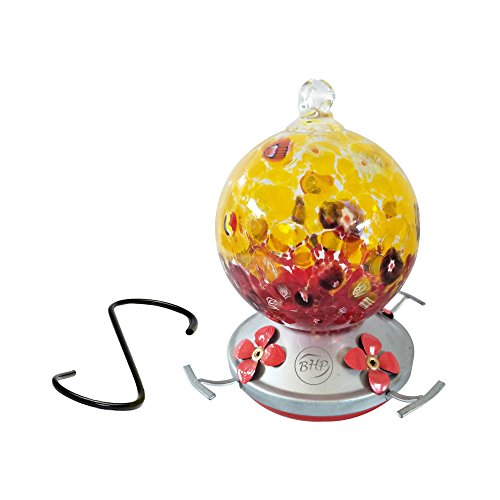 Best Home Products Blown Glass, Cranberry Popcorn