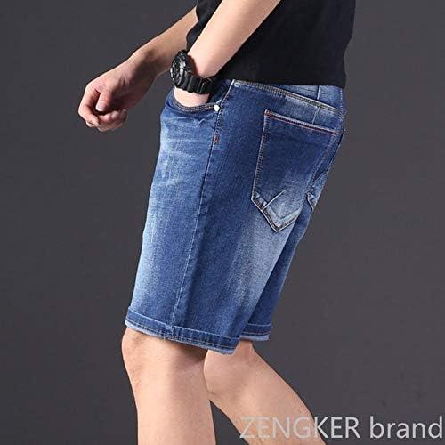 KGLOPYE Short surdimensionné en denim pour homme Taille élastique Longueur genou Été Lâche Short Homme Grande Taille 9XL 8XL 7XL 6XL