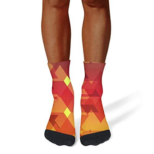 Price comparison product image XIdan-die Mens Athletic Crew Socks Fire Orange Cubes Moisture Wicking Casual Socks