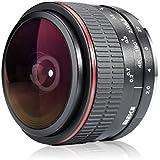MEKE Meike 6.5mm Ultra Wide f/2.0 Circular Fisheye Lens Canon EOS-M Mirorrless Camera