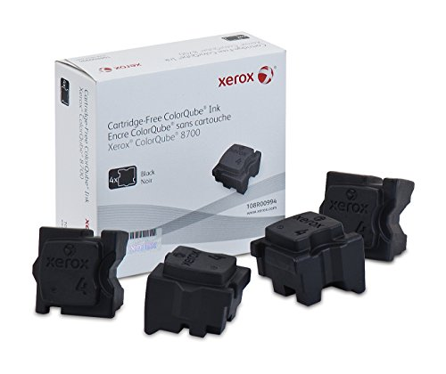 (Genuine Xerox Black Solid Ink Sticks for the Xerox ColorQube 8700 (4 pcs/Box), 108R00994)