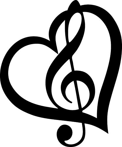 AJD Designs Music Note Heart Metal Wall Art