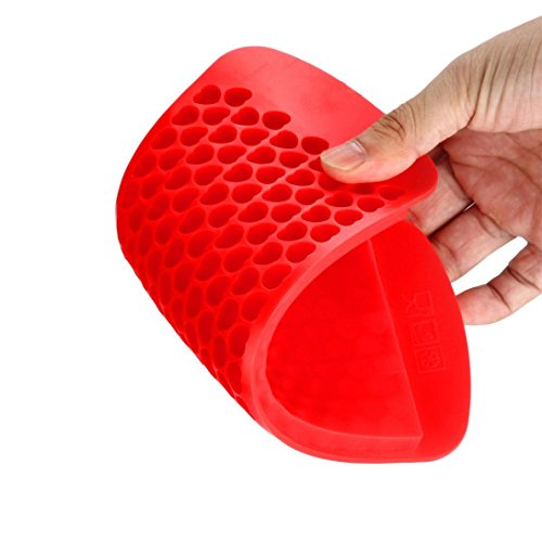 Vibola Hot Silicone Freeze Mold Bar Pudding Jelly Chocolate Maker Mold 150 Ice Cube DIY Ice Cream Tools Silicone Honeycomb Ice Cream Maker Ice Cube Tray (Red)
