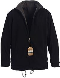 Mens Zip Up Reversible Polar Fleece Heavy Jacket