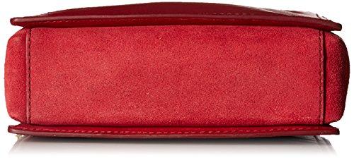 Strap Fossil Crossbody Novelty Velvet Campbell Bag Red gqYnw8z6q