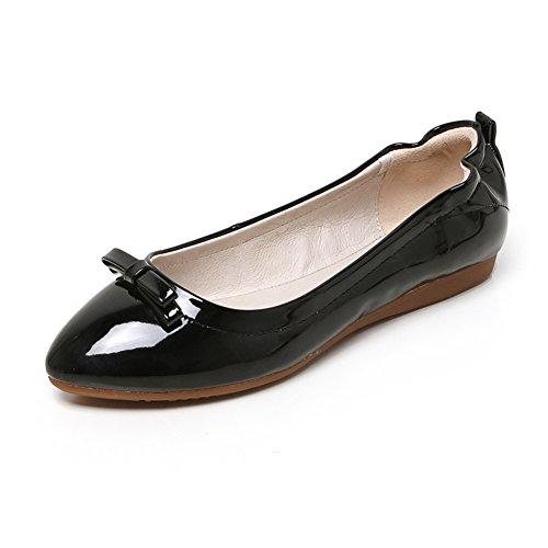 Señora coreana señaló los zapatos planos rollo de huevo/Zapatos de boda/El zapato de pala arcos a embarazadas C