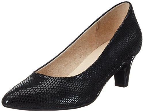 Caprice 22403, Escarpins Femme Noir (Black Reptile)