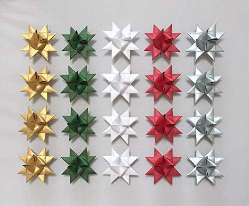 Amazon.com: 20 Pearlescent Moravian Stars, German Stars ...