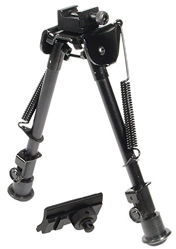 "UTG Tactical OP Bipod, Rubber Feet, Center Height 8.3""-12.7"""