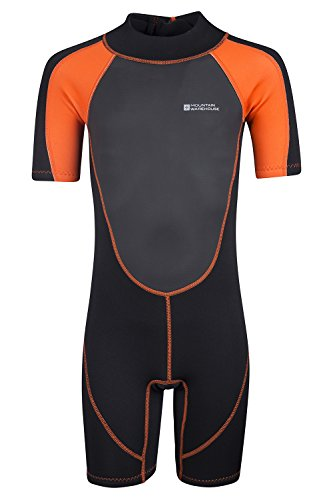 Mountain Warehouse Junior Shorty Wetsuit - Neoprene Kids Wetsuit Orange 5-6 years (Warehouse 6)