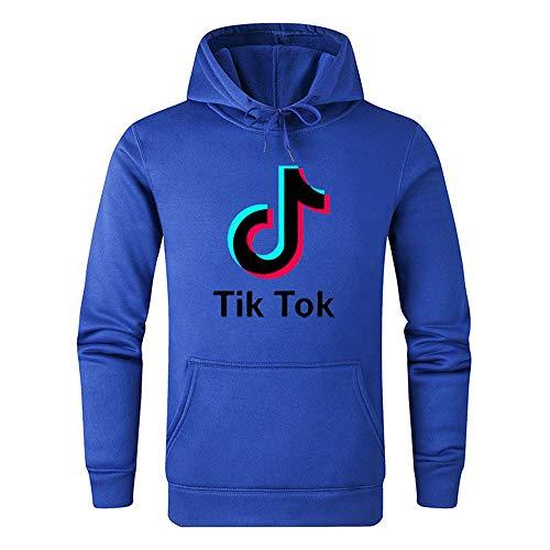 Tok Bleu Tik Musique Sweat Homme Douyin À 100 Coton Capuche Pullover UaxxOvIwq