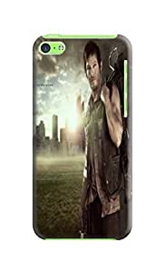 Passion style hot sell tpu phone case/shell/cover with texture for iphone 5c (The Walking Dead Daryl Dixon)