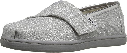 TOMS Kids Unisex Seasonal Classics (Infant/Toddler/Little Kid) Silver Glimmer Loafer 7 Toddler (Silver Toms For Toddlers)