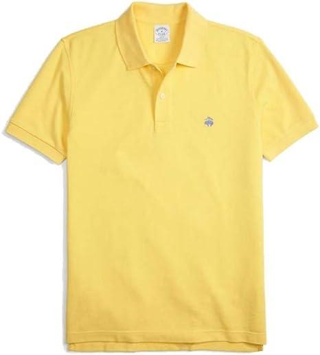 Brooks Brothers Polo 100% algodón amarillo Slim Fit amarillo S ...
