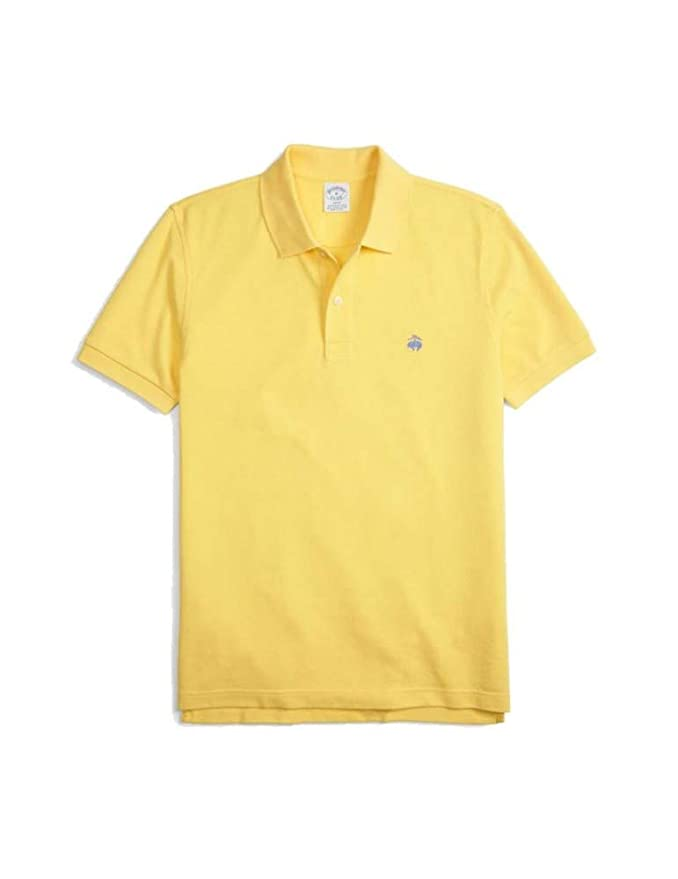 BROOKS BROTHERS Polo 100% algodón Amarillo Slim Fit: Amazon.es ...