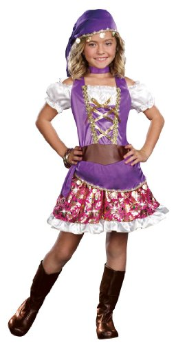 [SugarSugar Kids Gypsy Princess Costume, Small, 4-Piece] (Gypsy Costumes Girl)