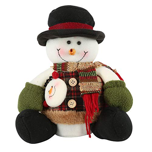 zhangwei Sitting Santa Claus Snowman Cute Christmas Doll or Decoration for Kids and Guests by zhangwei