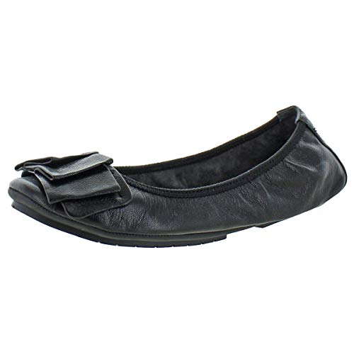 Me Too Womens Lilyana Leather Casual Slip On Ballet Flats Shoes Black Size 8M (Me Too Flats)
