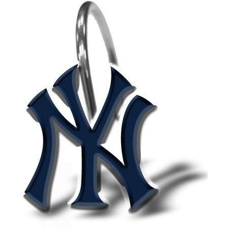 MLB New York Yankees Shower Curtain Hooks 12 Piece Set