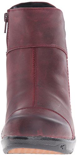 Keen - Zapatos de cordones para mujer rojo oscuro - rojo oscuro