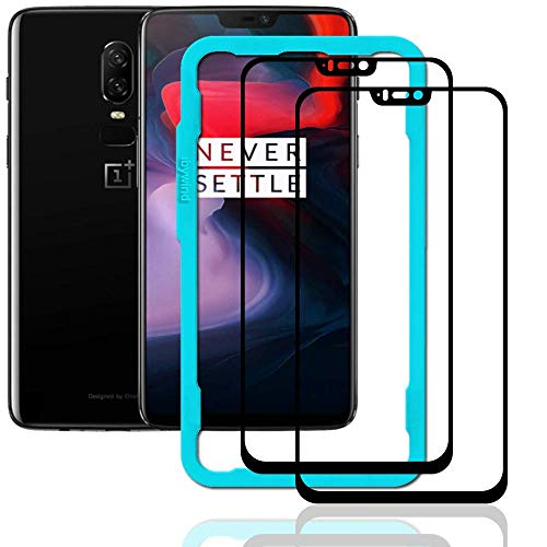 Ibywind OnePlus 6 Screen Protector [Pack of 2]-3D HD Full Coverage Premium Tempered Glass Screen Protectors with Easy Install Kit for OnePlus 6