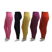 KHI Women's Solid Leggings (Pack Of 5)