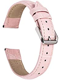 Sentai Leather Watch Bands - Quick Release Top Grain Leather Watch Strap - Choice of Width - 12mm, 14mm, 16mm or 18mm