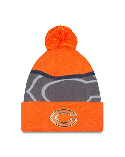 (New Era NFL Chicago Bears Gold Collection Team Color Knit Beanie, One Size fits All, Blue/Gray)