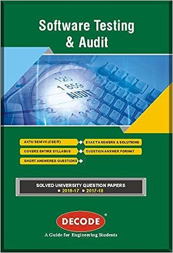 Buy DECODE-Software Testing and Audit for - AKTU (SEM-VII CSE/IT