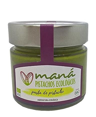 Maná Pistachos Ecológicos - Pistacho manchego ecológico (Pasta de pistacho, sin sal, cultivado en España y con procesos de agricultura ecológica, ...