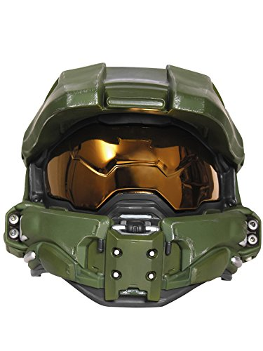 Disguise Men's Master Chief Adult Light-up Deluxe Helmet, Green, One Size -