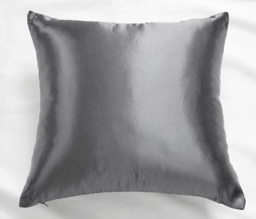 Creative Colorful Shiny Satin Euro Sham / Pillow Cover 24 by 24 - Charcoal (Colorful Euro Sham Cover)