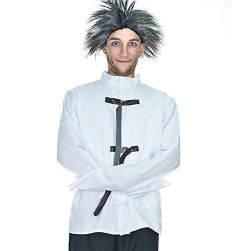 Spirit Insane Asylum Mens Costume (One Size, White) (Asylum Costume)
