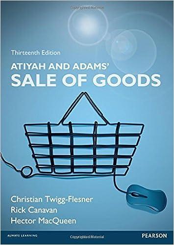 Atiyah and Adams' Sale of Goods by Rick Canavan (2016-06-06)
