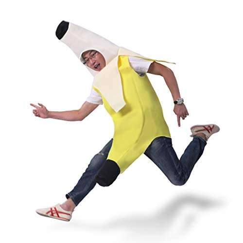 Banana Costume,Lightweight Deluxe Set Costume for Halloween Party Game with Adult (Rasta Imposta Banana Deluxe Adult)