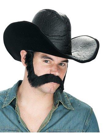 Paper Magic Mens Freak & Easy Wild West Facial-hair Costume, Black/Brown, One Size