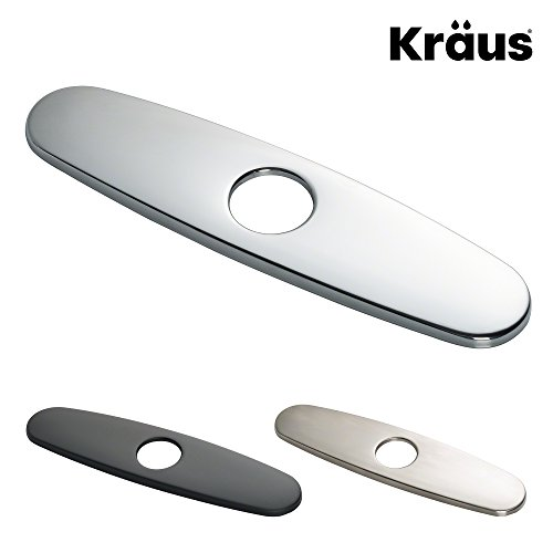 "Kraus Kitchen Faucet 10"" Deck Plate in Chrome (Base Plate Faucet)"