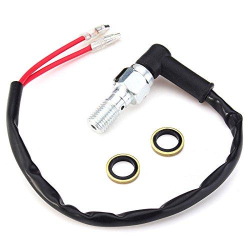 Zreal Moto universel hydraulique de frein arri/ère Interrupteur pression avec rondelles Banjo Bolt 10/mm X1.25/Pitch