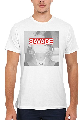 コンテンポラリーポスト印象派ペリスコープSavage Eat Hot Girl Lady Novelty Men Women Unisex Top T Shirt-M
