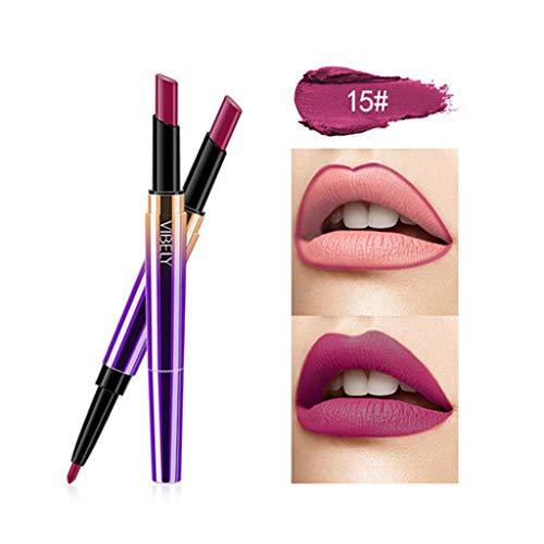 Star_wuvi 5pcs/set Matte Lipstick Lips kit Waterproof Long Lasting Nutritious Sexy Pumpkin Color Lipstick Cosmetics (5pcs/set)