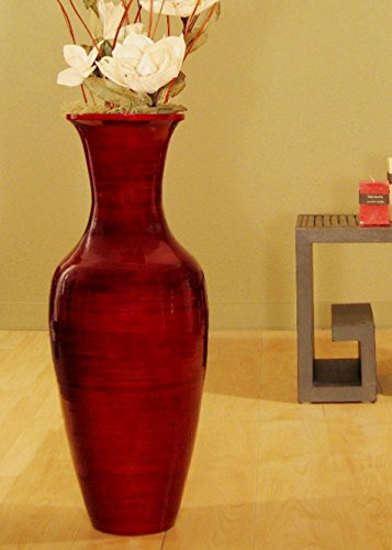 Red Tall Vases - 6