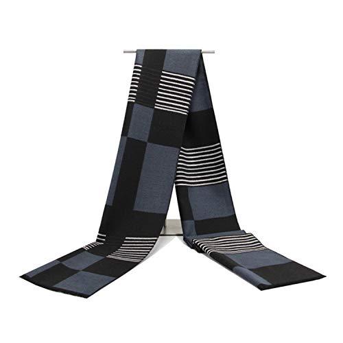 180cm Écharpe Foulard Amdxd Hommes Coton Pour Automne Modèle Hiver Mode Écosse Noir EXvRqwFrvx
