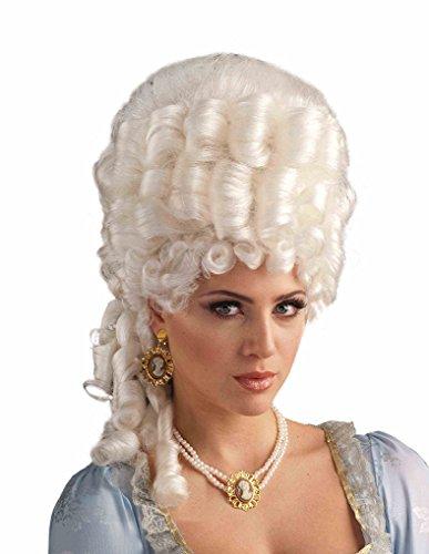 Wig Marie Antoinette Platinum (Adult size Platinum Marie Antoinette Wig - Victorian Era - Tudors - Reign)