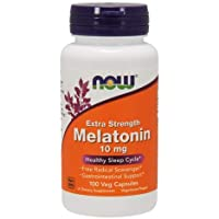 NOW Foods Melatonin, 10 Mg, 100 Vcaps (Pack Of 2)